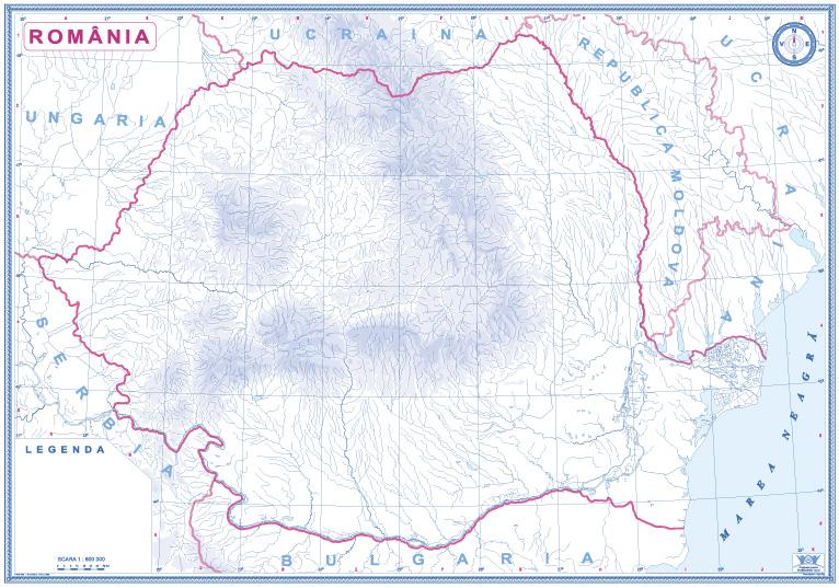 Romania Si Republica Moldova Harta De Contur Www Hartidebirou Ro