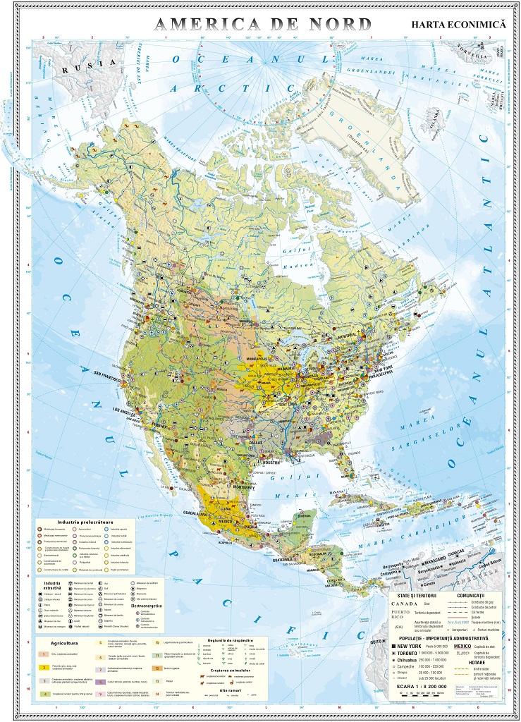 America De Nord Harta Economica Www Hartidebirou Ro