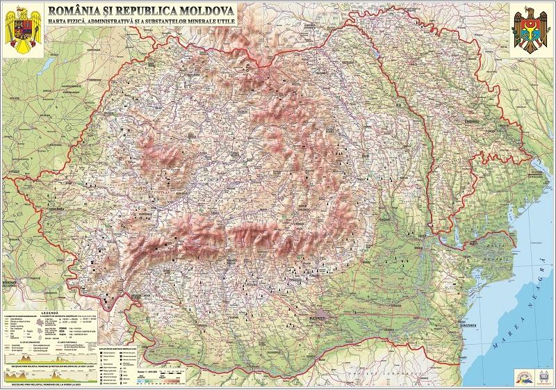 Romania Si Rep Moldova Harta Fizica Si Administrativa 3d Www